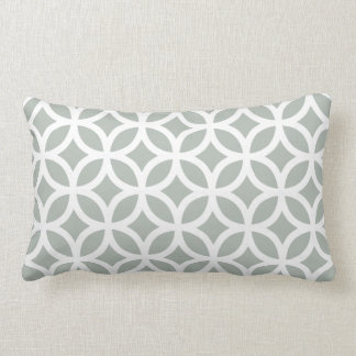 Silver Gray Geometric Lumbar Pillow