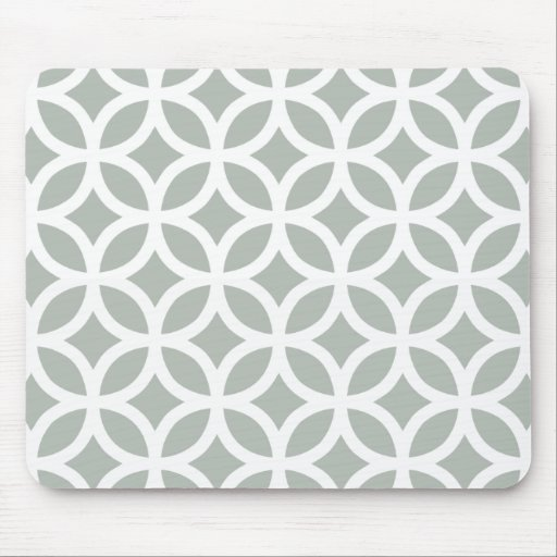 Silver Gray Geometric Mouse Pads