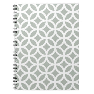 Silver Gray Geometric Notepad Notebook