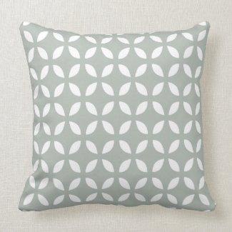 Silver Gray Geometric Pattern Pillow