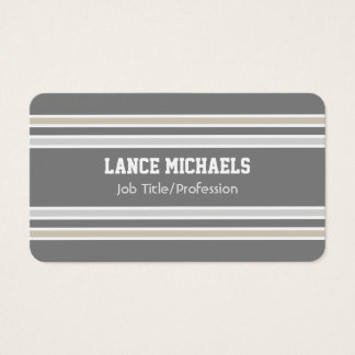 Silver/Gray/Gold Jersey Business Card