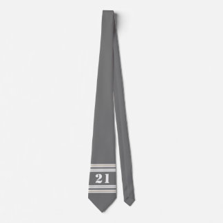 Silver/Gray/Gold Jersey Tie
