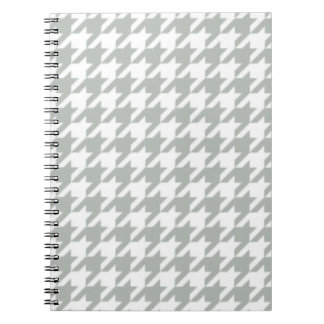 Silver Gray Houndstooth Notepad Notebook