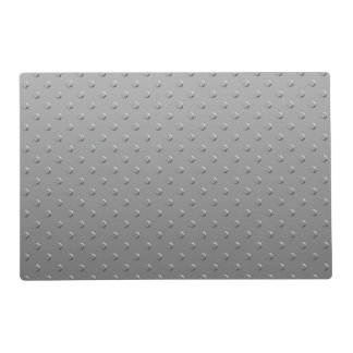 Silver Gray Metal Texture Look Laminated Placemat