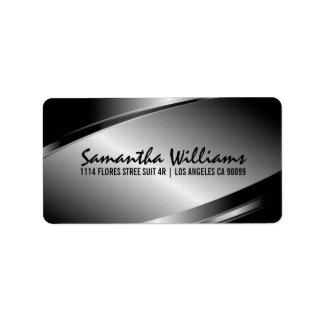 Silver Gray Metallic Design Label
