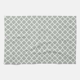 Silver Gray Moroccan Trellis Towels