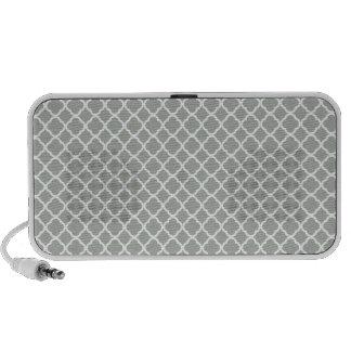 Silver Gray Moroccan Trellis Speaker