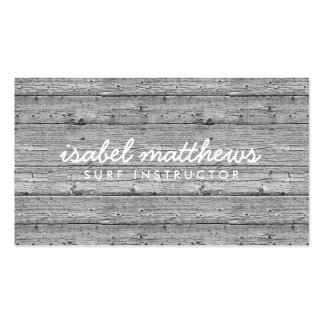 Silver Gray Reclaimed Wood Business Card