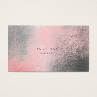 Silver Gray Rose Pink Metallic Appointment Card