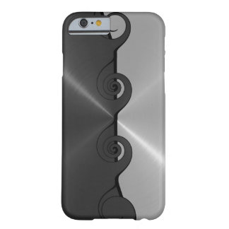 Silver Gray Stainless Metallic Cut Out Pattern Barely There iPhone 6 Case