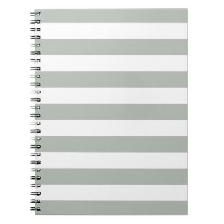 Silver Gray Stripes Pattern Notepad Notebook