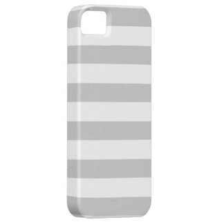 Silver Grey and White Stripes Pattern iPhone 5 Cover
