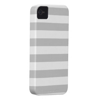 Silver Grey and White Stripes Pattern Case-Mate iPhone 4 Case