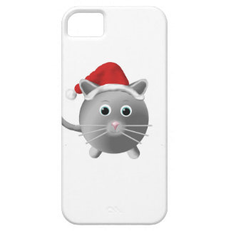 Silver Grey Cat Christmas iPhone 5 Cover
