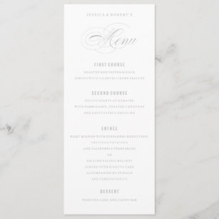 four course menus zazzle