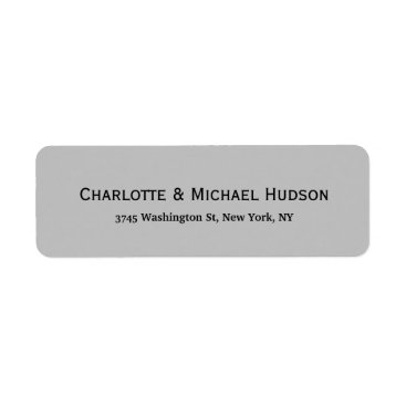 Professional Business Silver Grey Modern Creative Trendy Elegant Family Label