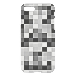 Silver Grey Mosaic Transparent iPhone Case