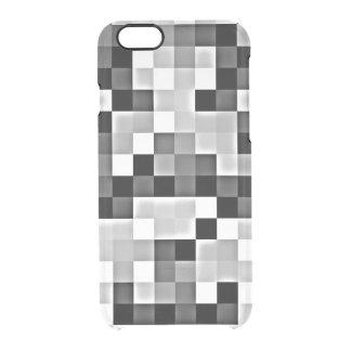 Silver Grey Mosaic Transparent Print iPhone Case
