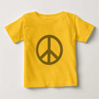 Silver Grey Peace Symbol Products Baby T-Shirt