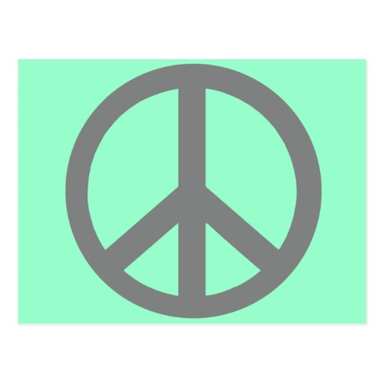 Silver Grey Peace Symbol Products Postcard
