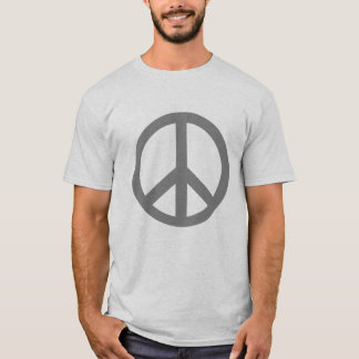 Silver Grey Peace Symbol Products T-Shirt