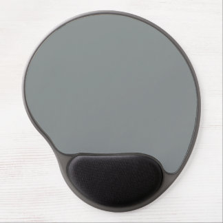 Silver Grey Personalized Gray Color Background Gel Mouse Pad