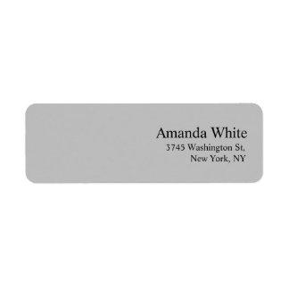 Silver Grey Plain Elegant Minimalist Modern Label