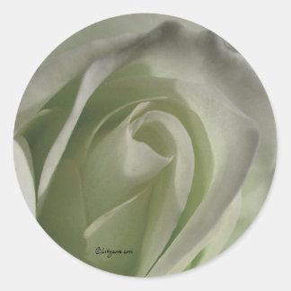 Silver Grey Rose Wedding Envelope Sticker Round Sticker
