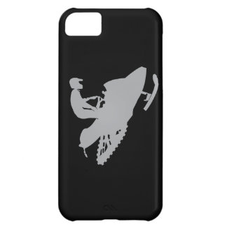 Silver Grey Snowmobiler iPhone 5C Covers