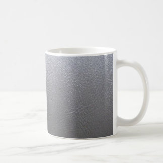 SILVER Grey Sparkle : Leather Look Finish Coffee Mugs