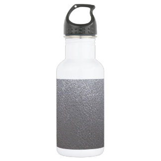 SILVER Grey Sparkle : Leather Look Finish 18oz Water Bottle