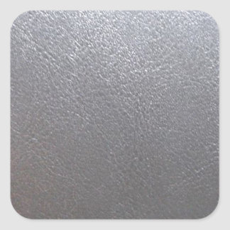 SILVER Grey Sparkle : Leather Look Finish Square Sticker