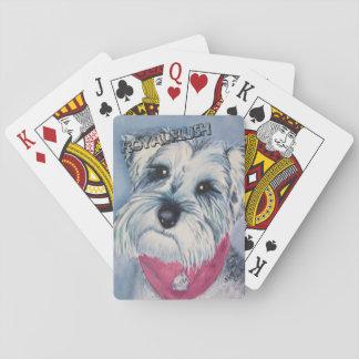 SILVER GREY SWEET SCHNAUZER PLAYING CARDS