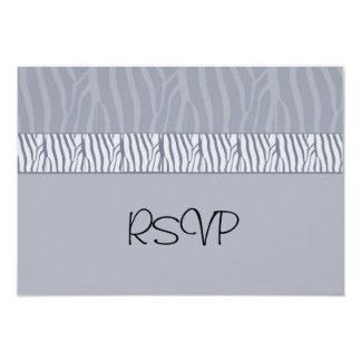 Silver Grey Wedding RSVP Card