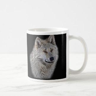 Silver Grey Wolf Wildlife Portrait Classic White Coffee Mug