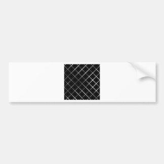 Silver grid and criss cross line artwork car bumper sticker