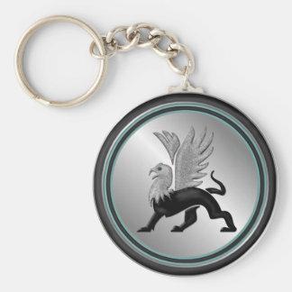 Silver Griffin Keychain