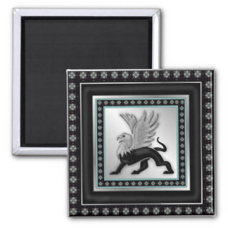 Silver Griffin Magnet