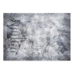 Silver Grunge English Horse Business Card