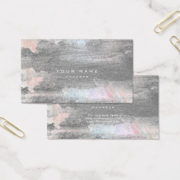 Lawyer Themed Silver Grungy Pastel Blue Cement Wall Gray Minimal Business Card
