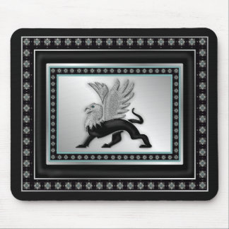 Silver Gryphon Mouse Pad