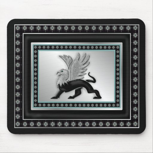 Silver Gryphon Mouse Mats