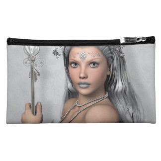 Silver hair girl with sword cosmetic bag