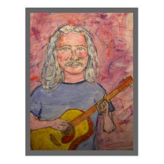 silver haired folk rocker postcard