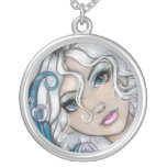 Silver-Haired Mermaid Necklace