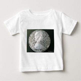SILVER HAND ENGRAVED ELIZABETH II BABY T-Shirt