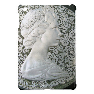 SILVER HAND ENGRAVED ELIZABETH II iPad MINI CASES