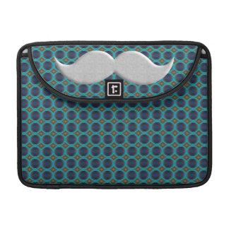 Silver Handlebar Mustache Moustache Stache Sleeves For MacBooks
