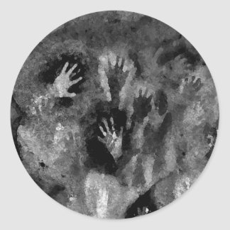 Silver Hands Classic Round Sticker