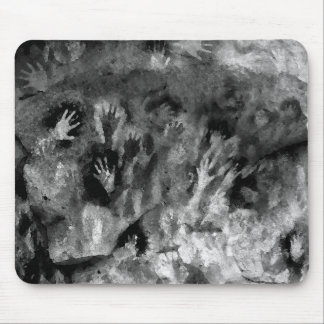 Silver Hands Mouse Pad